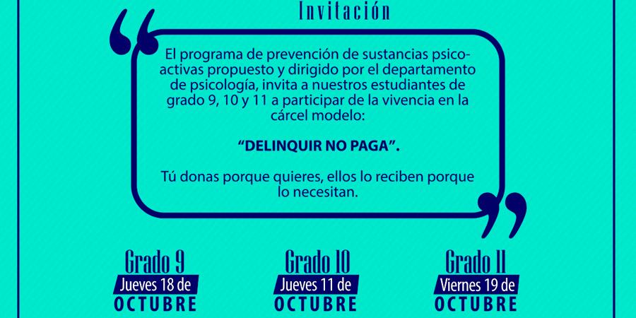 """""""Delinquir no paga"""" una campaña social"""
