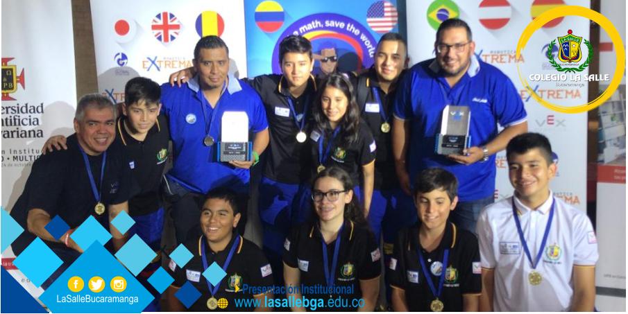El Colegio La Salle de Bucaramanga representará a Colombia en el Torneo Mundial de Robótica 'VEX